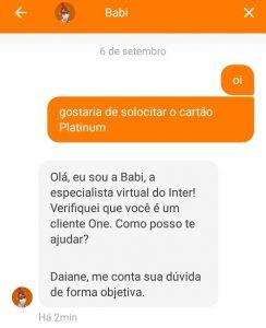 Inter Platinum: passo a passo para solicitar o cartão